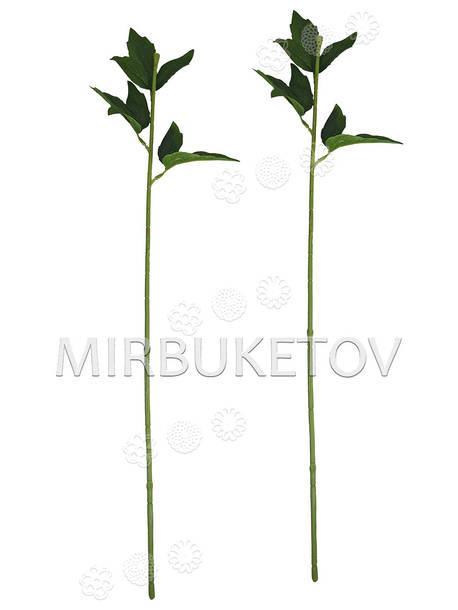 Ножка одиночная с листьями пиона, Люкс, 680 мм