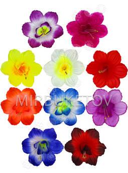 Пресс цветы с тычинкой-бусинкой и вставкой Мальва, 120 мм