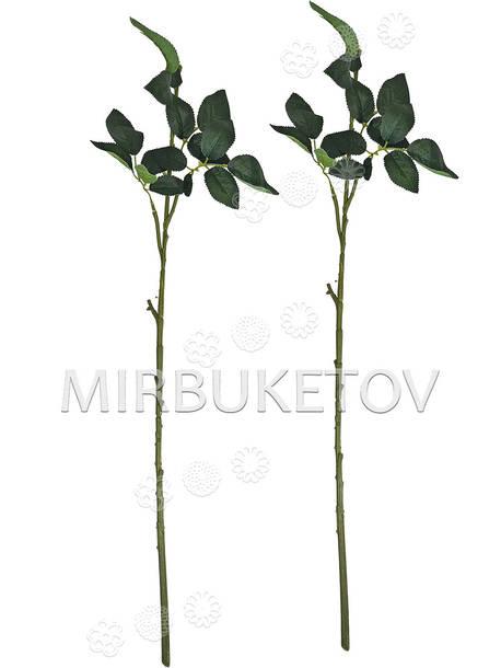 Ножка одиночная с листьями под розу, Люкс, 720 мм