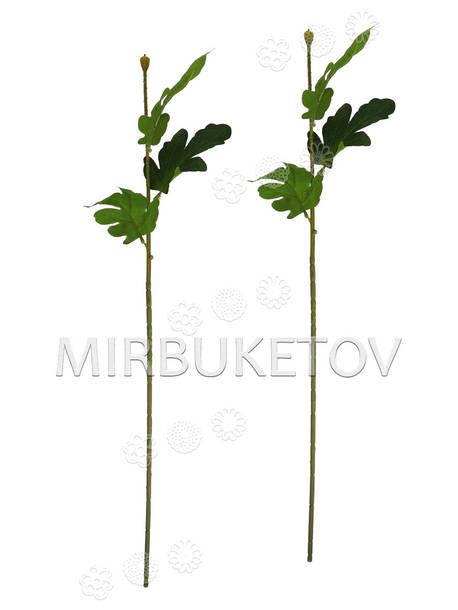 Ножка одиночная с листьями хризантемы, Люкс, 620 мм