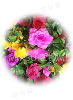 Гирлянда из искусственных цветов Розы, 190 см