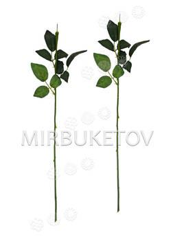 Ножка одиночная с резными листьями под розу, Люкс, 590 мм