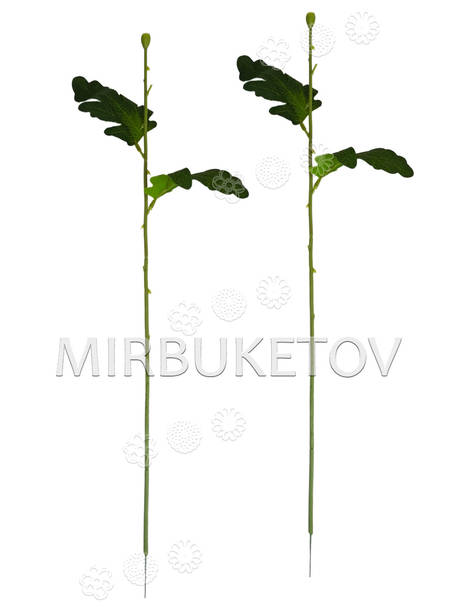 Ножка одиночная с листьями хризантемы, Люкс, 480 мм