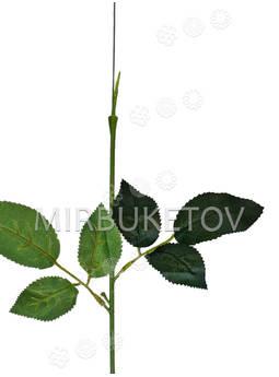 Ножка одиночная с резными листьями под розу, Люкс, 400 мм