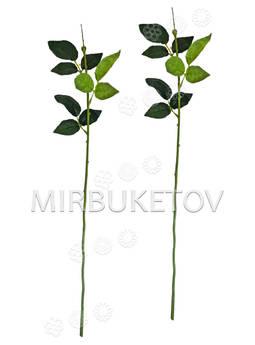 Ножка одиночная с резными листьями под розу, Люкс, 630 мм