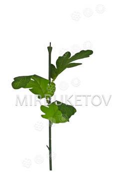 Ножка одиночная с листьями хризантемы, Люкс, 530 мм