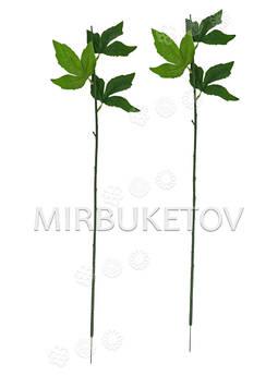 Ножка одиночная с листьями пиона, Люкс, 650 мм