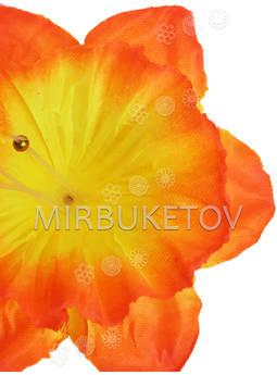 Искусственный цветок Нарцисса, атлас,120 мм