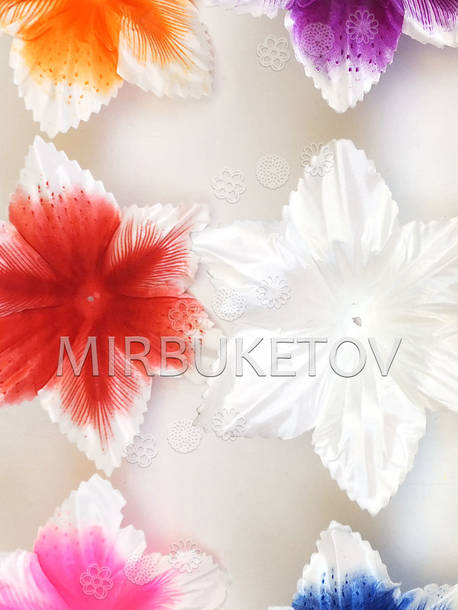 Пресс цветок Орхидея, атлас, 140 мм