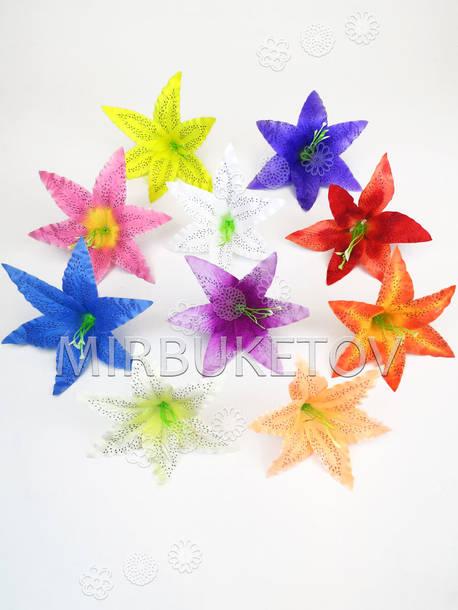 Искусственные цветы с тычинкой Лилия, шелк, микс, 190 мм