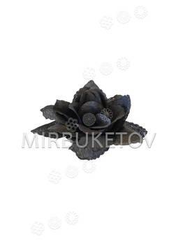 Искусственная Роза из шелка, 110 мм, черная