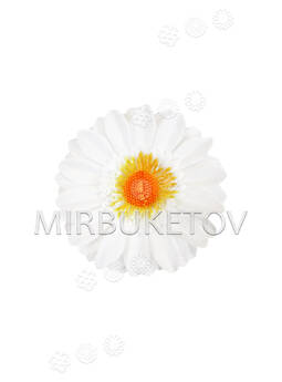 Искусственная Ромашка, белая, шелковая, 100 мм