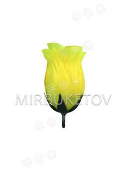 Бутон искусственной Розы, атлас, 70 мм