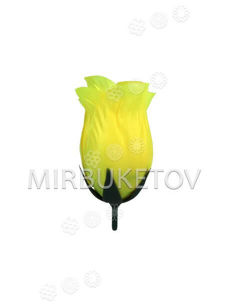 Бутон искусственной Розы, атлас, 75 мм