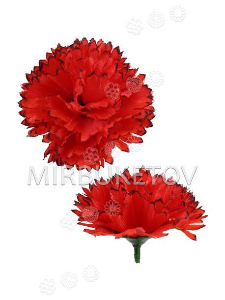 Искусственные цветы Гвоздика 5 лепестков, атлас, 80 мм
