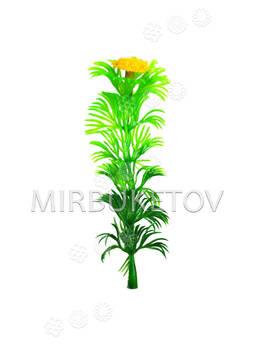 Добавка одиночная с листиками-ресничками, 95 мм