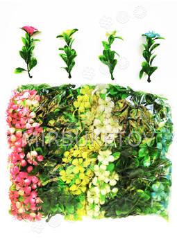 Добавка одиночная с 12 листиками и цветком, 85 мм
