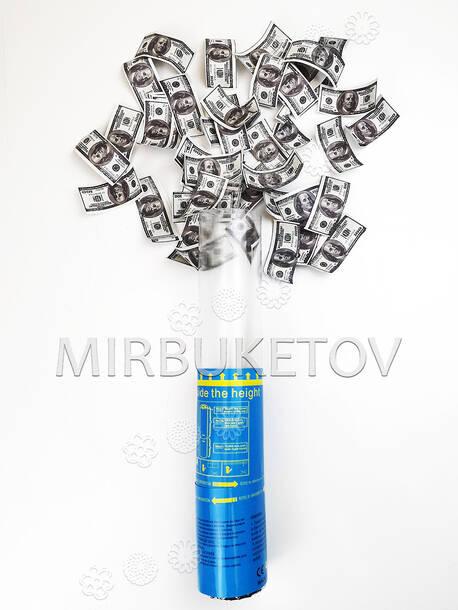"""Пружинная пневмо хлопушка """"Доллары"""", 27 см"""