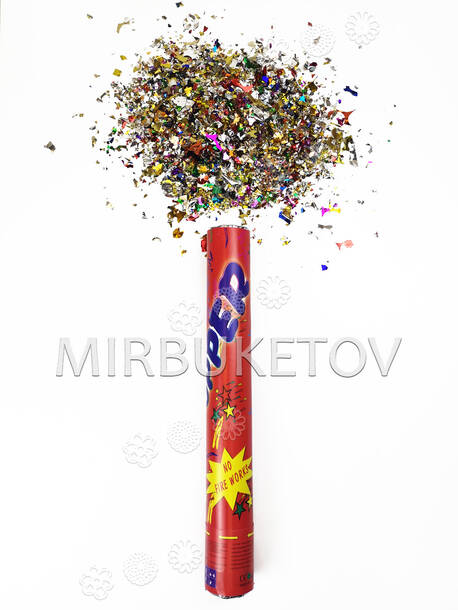 """Пружинная пневмо хлопушка с конфетти """"Party popper"""", 28 см"""