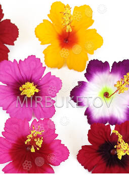 Пресс цветы с тычинкой Лилия резная, бархат, микс, 95 мм