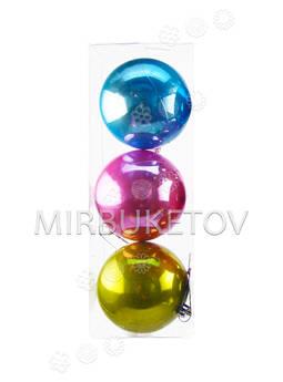 Елочные шары в колбе, микс, 100 мм