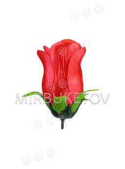 Искусственные цветы Роза бутон, атлас, 100 мм