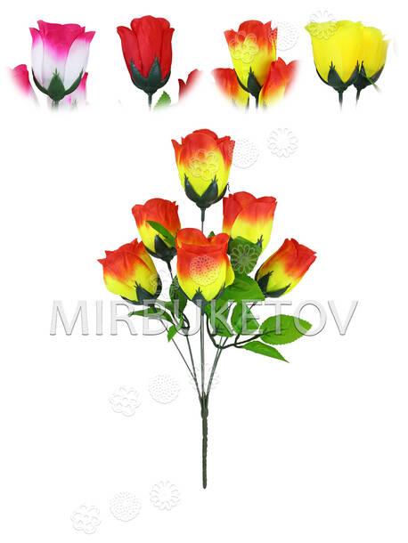 """Букет искусственной розы """"Хмельницкий Новый"""", 6 голов, 390 мм"""