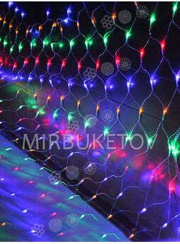 Гирлянда сетка LED разноцветная, 480 ламп, 5x1 м, соединяемая