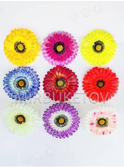 Искусственные цветы Герберы, шелк, микс, 120 мм