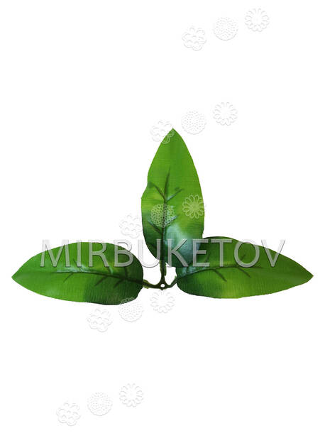 Искусственный Лист тройной, зеленый, 110x190 мм