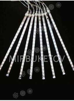 Гирлянда сосулька LED теплый белый, 8 стержней по 30 см