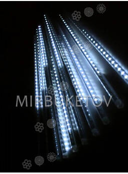 Гирлянда сосульки LED, холодный белый, 8 стержней по 30 см