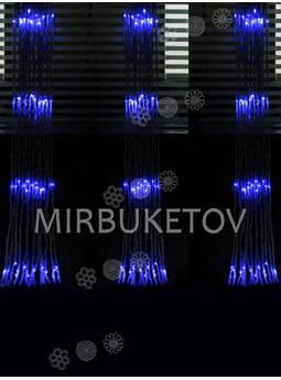 -Гирлянда-водопад LED синяя, 560 ламп, 3x2 м