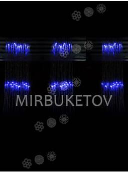 -Гирлянда-водопад LED синяя, 300 ламп, 3x1 м