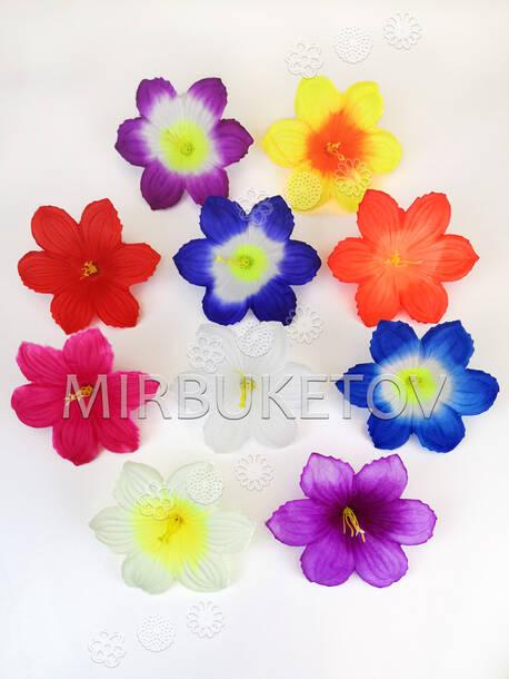 Искусственные Пресс цветы с тычинкой Лилия, атлас, 130 мм