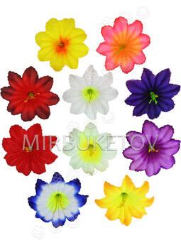 Искусственные пресс цветы с тычинкой Гибискус, микс, 115 мм