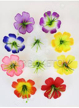 Искусственный пресс цветок Лотоса с тычинкой-куст, 80 мм