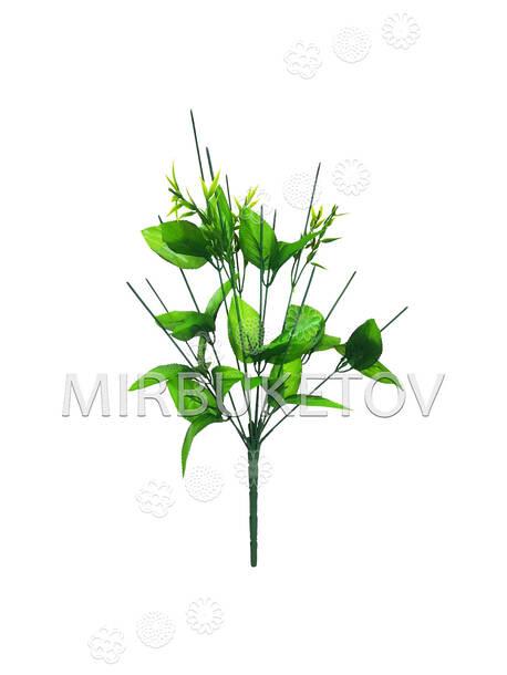Букетная ножка на 12 голов с листьями и добавками, 450 мм