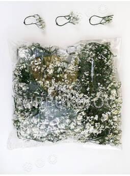 Добавка двойная пластиковая, темно-зеленая с белым напылением, 50 мм