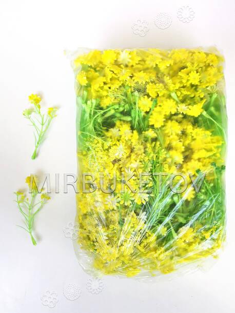 Добавка пластиковая тройная, салатовая желтым напылением, 90 мм