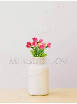 Букет искусственной Розы, 15 голов, 230 мм