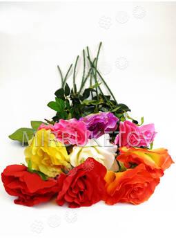 Искусственные цветы Премиум Роза волнистая на ножке, 740 мм