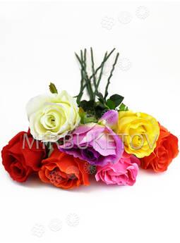 Искусственные цветы Премиум Роза на ножке, 700 мм