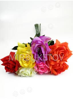 Искусственные цветы Премиум Роза на ножке, 750 мм