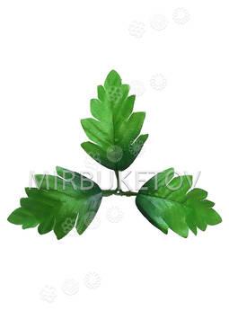 """Искусственный Лист тройной """"Лапка"""", зеленый, 190 мм"""