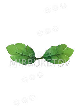 """Искусственный Лист двойной """"Дубок"""", зеленый, 160 мм"""