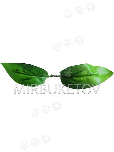 Искусственный Лист двойной, зеленый, 210 мм