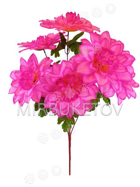 Искусственные цветы Букет Хризантемы, 6 голов, 620 мм