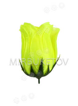 Искусственные цветы Роза бутон, атлас, 130 мм
