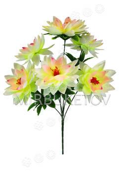 Искусственные цветы Букет Клематиса, 6 голов, 560 мм
